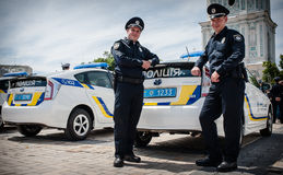 New police patrol took the oath Stock Photos