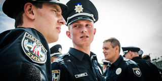 New police patrol took the oath Stock Photography