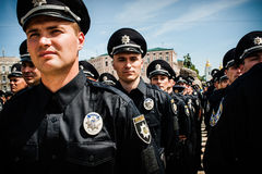 New police patrol took the oath Royalty Free Stock Photography