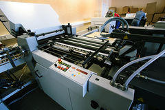 New polygraphic machine Royalty Free Stock Photo