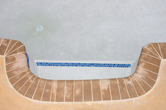 New pool filling with water Royalty Free Stock Images