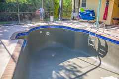 New pool remodel bond coat Royalty Free Stock Photography