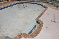 New pool tile border grout work remodel Stock Photography