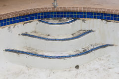New pool tile border grout work remodel Royalty Free Stock Photos