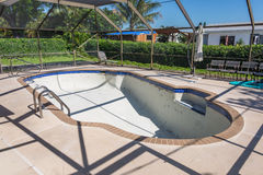 New pool tile border grout work remodel Royalty Free Stock Photo