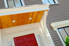 New Porch. Roof on house entrance. Home improvement Royalty Free Stock Photography