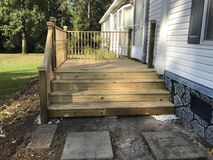 New porch just constructed Royalty Free Stock Images