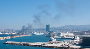 The New port of Marseille Stock Photography