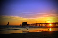 Newport Beach pier southern California royalty free stock photography