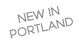 New In Portland rubber stamp Stock Photography