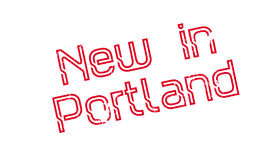 New In Portland rubber stamp Royalty Free Stock Photography