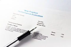 New Position Performance Evaluation Stock Photography