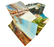 New postcards. New unmailed postcards isolated on white. I own copyrights to all the postcard images, no copyright infringement issues Royalty Free Stock Image