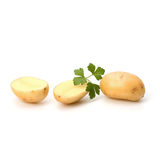 New potato and green parsley Royalty Free Stock Photography