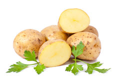 New potato and green parsley Royalty Free Stock Image