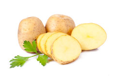 New potato and green parsley Royalty Free Stock Photos