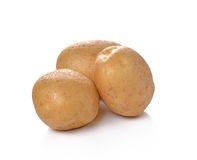 New potato isolated on white background close up. Stock Photos