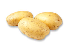 The new potato on white background Royalty Free Stock Photos