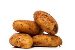 New potatoes. Over white background Royalty Free Stock Photography