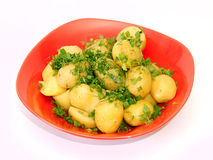New potatoes. With fennel and onion Stock Photos