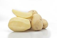New potatoes. On white background Stock Image