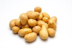 New potatoes. 1 kilo of new potatoes box on white background Stock Image