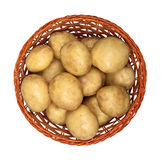 New potatoes in a basket Stock Image