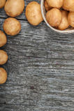 New potatoes in a basket Royalty Free Stock Image