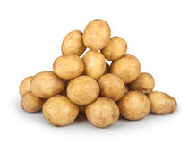 New potatoes big heap Royalty Free Stock Photography