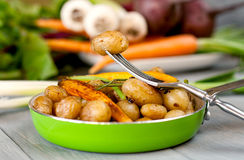 New potatoes in a pan Royalty Free Stock Images