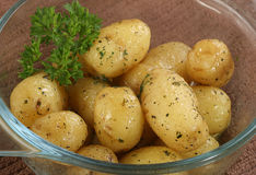 New potatoes with parsley Royalty Free Stock Photography