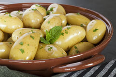 New Potatoes Steamed Stock Photos