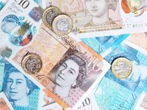 New Pound Notes Royalty Free Stock Photo