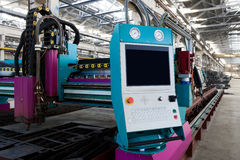 New and powerful metalworking machine Royalty Free Stock Photo