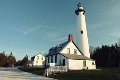 New Presque Isle Lighthouse, built in 1870 Royalty Free Stock Photography