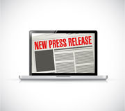 New press release computer news illustration Royalty Free Stock Images