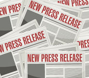 New press release illustration design Royalty Free Stock Photography