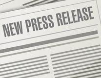 new press release illustration design Stock Photo