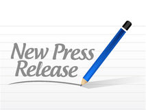 New press release message sign illustration Stock Image