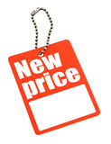 New Price Hang Tag on Chain Stock Photos