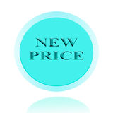New Price icon or symbol image concept design with business for Royalty Free Stock Images