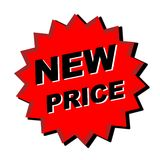 New Price Sign. Red new price sign - web button - internet design Royalty Free Stock Photo