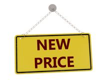 New price sign. With chain isolated on white background ,3d rendered Royalty Free Stock Photo