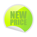 New price sticker Stock Image