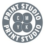 New print studio logo, simple style Royalty Free Stock Photo