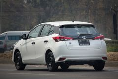 New Private Car toyota Yaris Hatchback Eco Car Stock Photography
