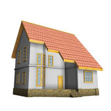 New private family house. 3d illustration. Stock Photography