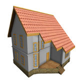 New private family house. 3d illustration. Stock Image