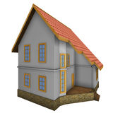 New private family house. 3d illustration. Stock Images