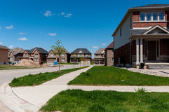 New private houses in Kitchener Royalty Free Stock Photo
